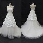 2013 Fall Famous Design Strapless Appliqued Beading Taffeta Long Train German Wedding Dresses