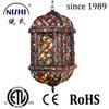 2014 hot selling hanging moroccan lantern pendant lamp, popular for bar