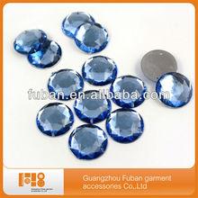 round flat back acrylic diamante