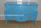 Painted Chest of Drawers Wooden Commode Antique Reproduction Cabinet Vintage Chest European Home Furniture French Style Bed Room