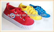 2014 winter injection cheap lace-up kids canvas shoes