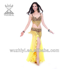 Sexy Nice Bra and Belt Belly Dance Performance Costumes for Dancer
