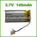 3.7v 140 bluetooth mah li ion battery pack