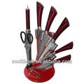 cubiertos cuchillo set 7 piezas con ranurado bloque de acrílico