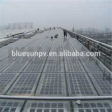 Bluesun High Quality mono or poly pv solar panel transparent for transparent roof
