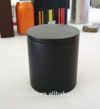 Black Color Matte Finish Round Tin,Round Tin Can, Round Tin Box