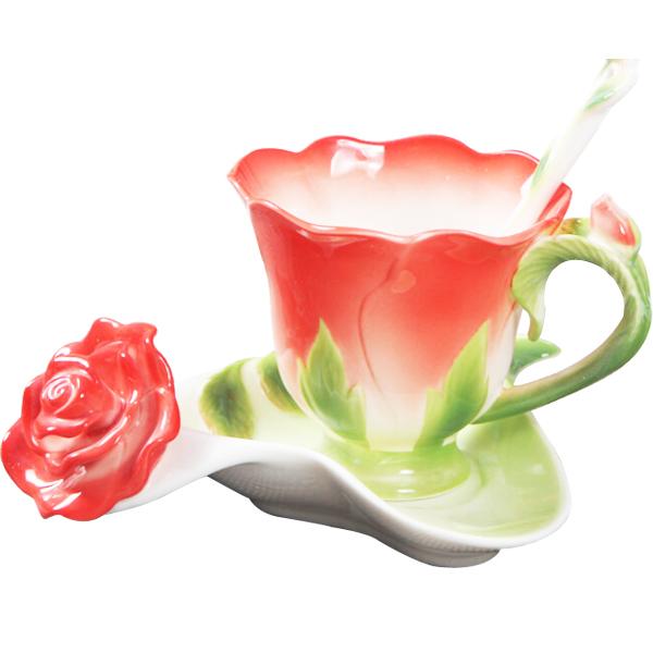 Ceramic Cups And Saucers Ceramics Cup/saucer/spoon