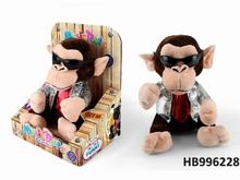 Manual Operation Dj Music Plush Monkey Speak Talking Sound Plush Animals
