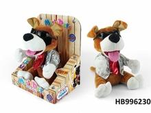 Manual Operation Dj Music Plush Dog Speak Talking Sound Plush Animals