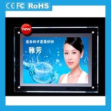 2014 acrylic super slim LED light box;led slim snap frame light box;magic led backlit poster frame for advertising