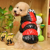 F144 Special Design! Ceramic Tile Shape Colorful Warm Pet Clothes Four-legged Cotton Dog Clothes