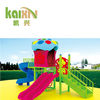 outdoor playground equipment plastic play house with slide