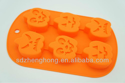 Pumpkin Orange Silicon Halloween Cup Cake Pan (Makes 6 cup cakes) KB-CM024