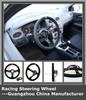china manufacturer high quality genuine leather racing steering wheel