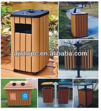 outdoor garden and park wood plastic composite wpc dustbin