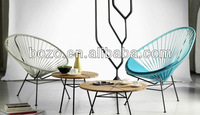 Synthetic plastic rattan wicker garden chair stacking / acapulco chair/egg chair