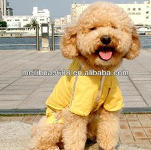 2014 Hot Selling Cheap Functional Yellow Dog Raincoat