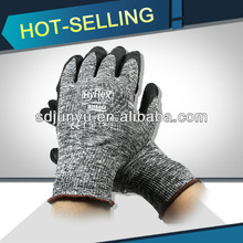 CE approved Ansell HyFlex 11-801 palm foam nitrile coated working gloves