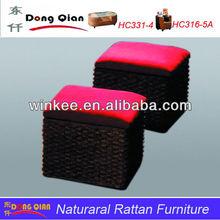 Modern chair rattan ottoman