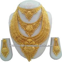 24 KARAT HANDMADE GOLD FILLED BIG NECKLACE