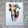 handpainted وحة زيتية على قماش الحديثة الفيل