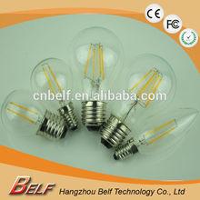 2015 newest high lumen 2W/4W/6W/8W 360 degree dimmable filament led light bulb