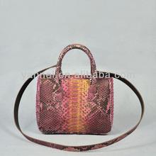 python snake leather bag_python mini cross body lady bag_mini tote cross body bag