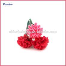 Newest carnation shape polymer clay promotiomal logo ball point pen