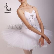 2015 new decorated spandex tutu dance dress