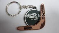 custom fashion 3D soft PVC keychain
