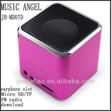 adapter fm radio usb tf card reader speaker portable multimedia fm radio usb speaker memory d