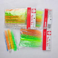 High quality Eco-friendly PS fruit fork , Mini plastic stick