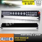 Hot products 12v/24v 20inch 132W Hybrid 3w 10w mixed cree led light bar