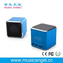Music Angel JH-MD06 TF card cube bass peaker best portable speaker 2012 mini pc speaker