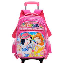 China manufacturer 2014 hot cartoon princess kids trolley school bags for girls