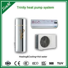 CE, Australia , New Zealand certificate cop4.2 tankless 3kw,5kw,7kw,9kw R410A max.60C sanitary hot water heating heat pump split
