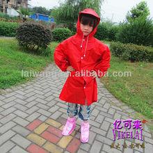 Fashion PVC breathable child raincoat