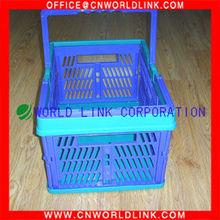 2 Handles Plastic Foldable Laundry Basket