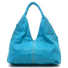 2014 designer brand names fashion V type with stud women lady hand bag