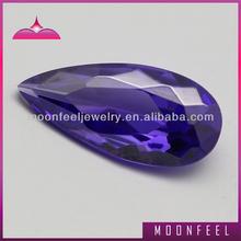 Good violet pear cubic zirconia
