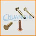 esportati din6791 in acciaio inox tubolare semi rivetti