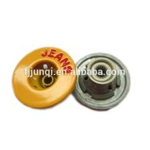 Yellow gold zinc alloy men custom jeans metal button manufacturer