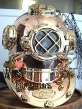 Nautical Mary Brass & Copper diving helmet, divers helmet