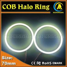 70mm cob LED Angel eyes headLight halo rings Light Horn light lamp