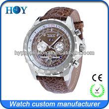 Most fashion mechanical watches men quartz wrist for market 2014