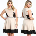 China supplier 2014 new fashion design hot sale fashionable dress for fat women
