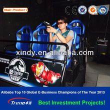 full motion effect Flight theme Video gun game simulator arcade machines 5D SKY TROOPER LSST 0030