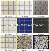 Unglazed mosaic/Pebble unglazed mosaic