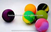 Wholesale FDA approved food grade nonstick small ball shaped silicon jar for sticky product