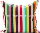 Hot Sale custom made 100% Cotton Printed Stripe Canvas Cushion Covers